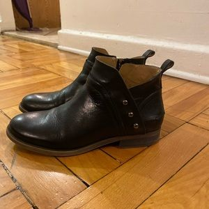 Franco Sarto Black Booties (5.5)